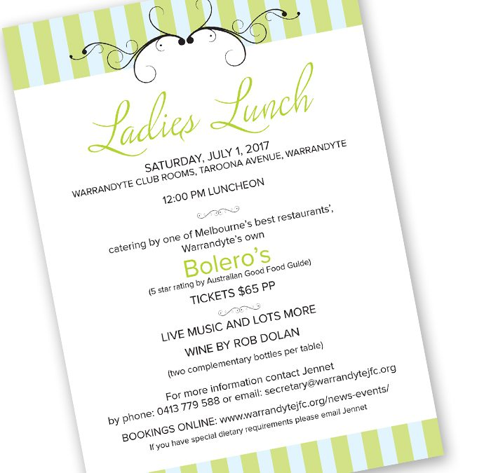 Ladies Lunch – 1st July 2017