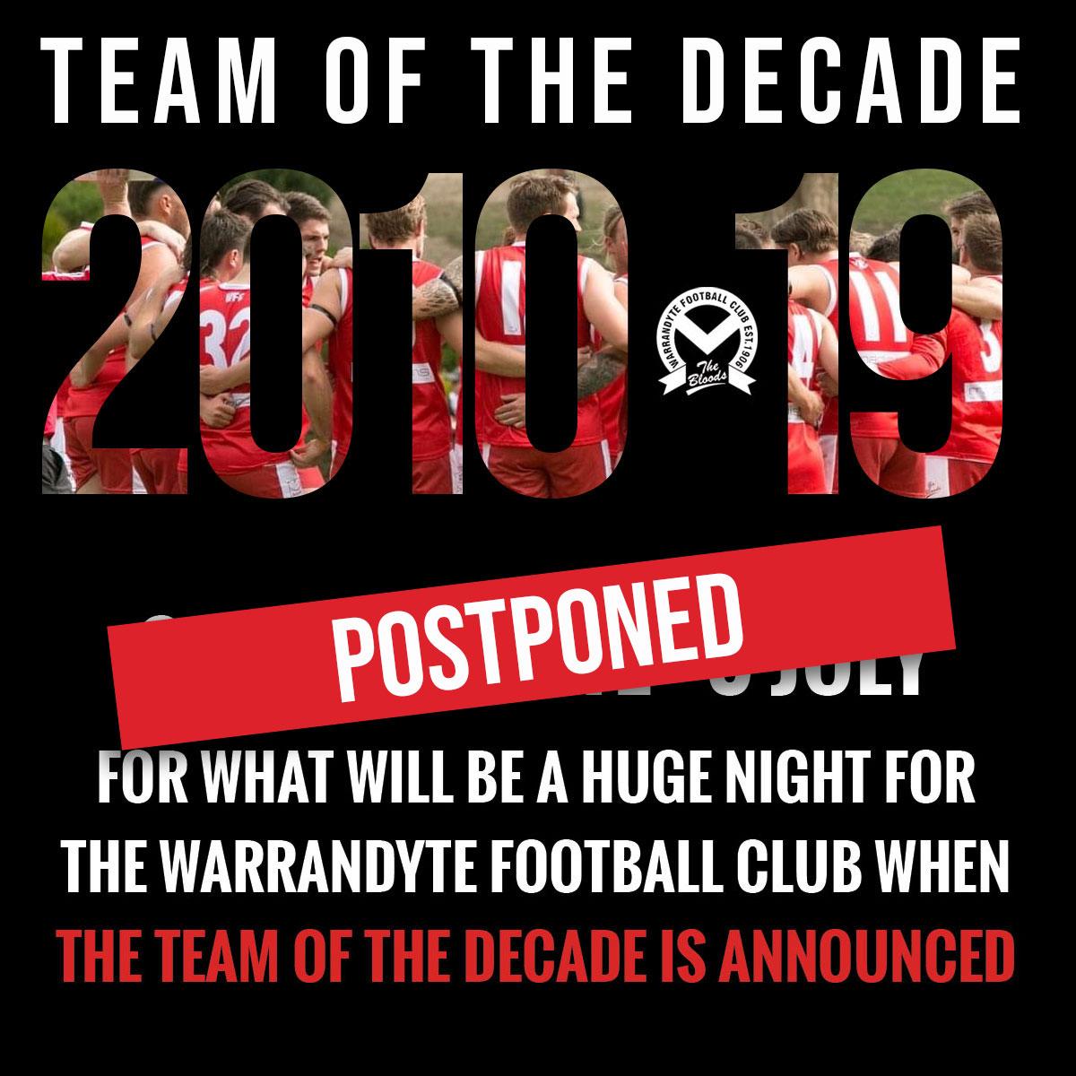 team of the decade postponed